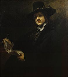 Rembrandt | Portrait of a Young Artist, c.1647 | Giclée Canvas Print