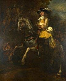 Rembrandt | Portrait of Frederick Rihel on Horseback, c.1663 | Giclée Canvas Print