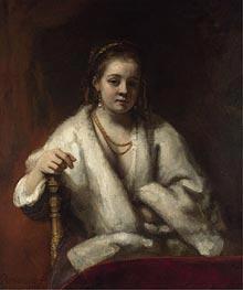 Rembrandt | Portrait of Hendrickje Stoffels, 1660 | Giclée Canvas Print