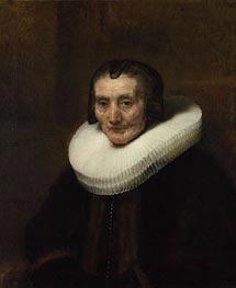 Rembrandt | Portrait of Margaretha de Geer, Wife of Jacob Trip, 1661 | Giclée Canvas Print