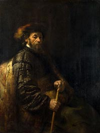 Rembrandt | A Seated Man with a Stick | Giclée Canvas Print