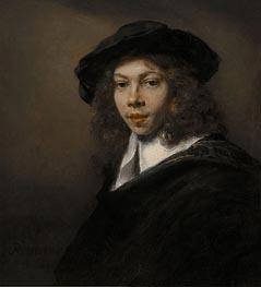 Rembrandt | Portrait of a Young Man, 1666 | Giclée Canvas Print