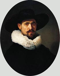 Rembrandt | Portrait of a Bearded Man in a Wide-Brimmed Hat, 1633 | Giclée Canvas Print