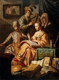 Rembrandt | Musical Allegory | Giclée Canvas Print