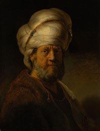 Rembrandt | An Oriental, 1635 | Giclée Canvas Print