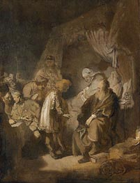 Rembrandt | Joseph Tells his Dreams to Jacob, 1633 | Giclée Canvas Print