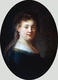 Rembrandt | Portrait of a Woman (Saskia van Uylenburgh) | Giclée Canvas Print