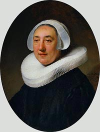 Rembrandt | Portrait of Haesje Jacobsdr of Cleyburg, 1634 | Giclée Canvas Print
