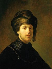 Rembrandt | A Young Man Wearing a Turban, 1631 | Giclée Canvas Print