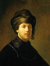 Rembrandt | A Young Man Wearing a Turban | Giclée Canvas Print