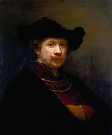 Rembrandt | Self Portrait in a Flat Cap, 1642 | Giclée Canvas Print