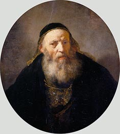 Rembrandt | A Rabbi with a Cap, c.1635 | Giclée Canvas Print