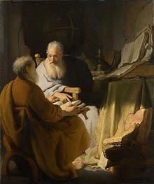 Rembrandt | Two Old Men Disputing, 1628 | Giclée Canvas Print