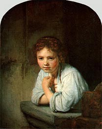Rembrandt | Young Girl in the Window, 1645 | Giclée Canvas Print