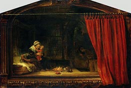 Rembrandt | Holy Family with a Curtain, 1646 | Giclée Canvas Print