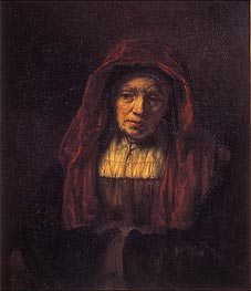Rembrandt | Portrait of an Old Woman, 1654 | Giclée Canvas Print