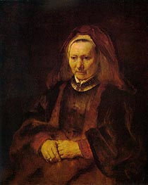 Rembrandt | Portrait of an Elderly Woman, c.1650/52 | Giclée Canvas Print