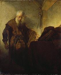 Rembrandt | St Paul at his Writing-Desk, c.1629/30 | Giclée Canvas Print