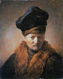 Rembrandt | Old Man in Fur Coat, 1630 | Giclée Canvas Print
