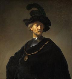 Rembrandt | Old Man with a Gold Chain, 1631 | Giclée Canvas Print