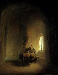 Rembrandt | Philosopher Reading, 1631 | Giclée Canvas Print