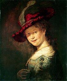 Rembrandt | Portrait of the Young Saskia, 1633 | Giclée Canvas Print