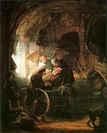 Rembrandt | Tobias Cured With His Son, 1636 | Giclée Canvas Print