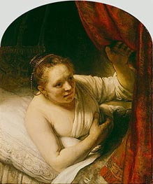 Rembrandt | Sarah Expects Tobias in the Wedding Night, c.1645 | Giclée Canvas Print