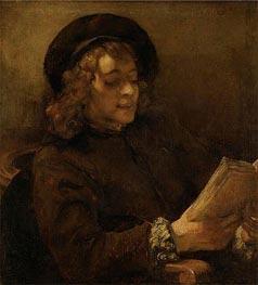 Rembrandt | Titus Reading, c.1656/57 | Giclée Canvas Print