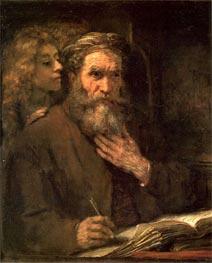 Rembrandt | Evangelist Matthew, 1661 | Giclée Canvas Print