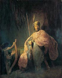 Rembrandt | David Playing the Harp before Saul, c.1630 | Giclée Canvas Print