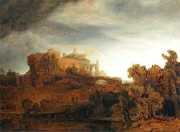 Rembrandt | Landscape with Castle, c.1643 | Giclée Canvas Print