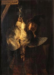 Rembrandt | Self Portrait with Bittern, 1639 | Giclée Canvas Print