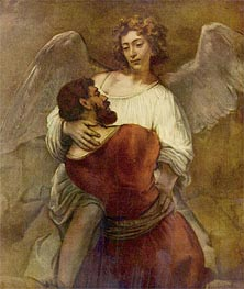 Rembrandt | Jacob Wrestling with the Angel, c.1659/60 | Giclée Canvas Print