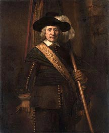 Rembrandt | The Standard Bearer (Floris Soop), 1654 | Giclée Canvas Print