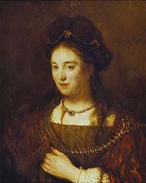 Rembrandt | Saskia, 1643 | Giclée Canvas Print