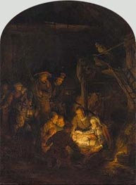 Rembrandt | Adoration of the Shepherds, 1646 | Giclée Canvas Print