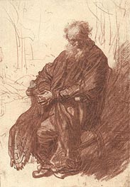 Rembrandt | Old Man Seated in an Armchair, c.1631 | Giclée Paper Print