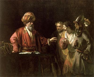 The Centurion Cornelius (The Unmerciful Servant), c.1660 | Rembrandt | Painting Reproduction
