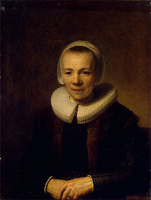 Portrait of Baertje Martens, c.1640 | Rembrandt | Painting Reproduction