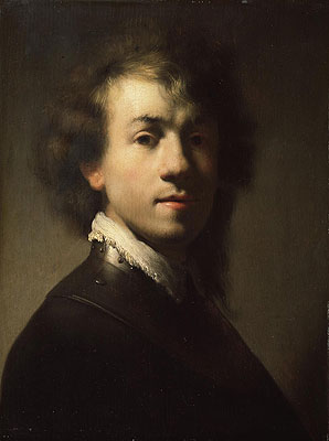 Portrait of Rembrandt at around Age of 23, c.1629 | Rembrandt | Painting Reproduction