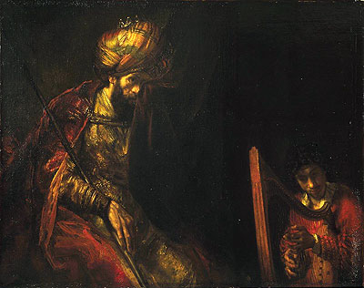 Rembrandt | Saul and David, c.1650/55  | Giclée Canvas Print