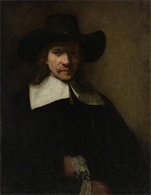 Portrait of a Man, c.1655/60 | Rembrandt | Painting Reproduction