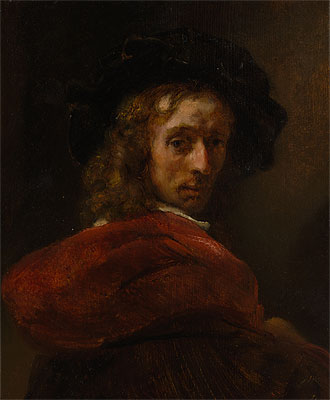 Man in a Red Cloak, Undated | Rembrandt | Painting Reproduction