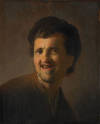 Laughing Young Man (Self Portrait), 1630 | Rembrandt | Painting Reproduction
