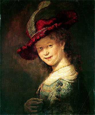 Portrait of the Young Saskia, 1633 | Rembrandt | Painting Reproduction