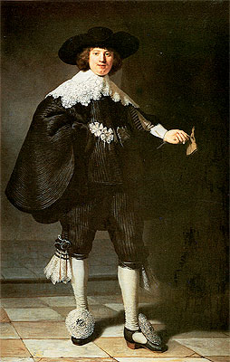 Portrait of Marten Soolmans, 1634   Rembrandt   Painting Reproduction