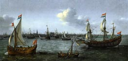 The Harbour in Amsterdam, 1630 by Hendrick Cornelisz. Vroom | Giclée Canvas Print