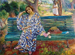 On the Green Bank, Sanary, 1911 by Henri Lebasque | Giclée Canvas Print