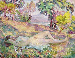 The Resting in Saint-Tropez, 1906 by Henri Lebasque | Giclée Canvas Print